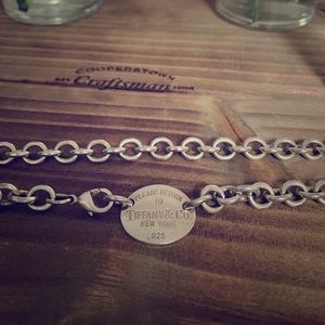 Authentic Tiffany & Co Oval Necklace
